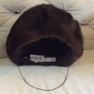 Vintage 1940s/50s Luscious Brown Mink Fur Hat